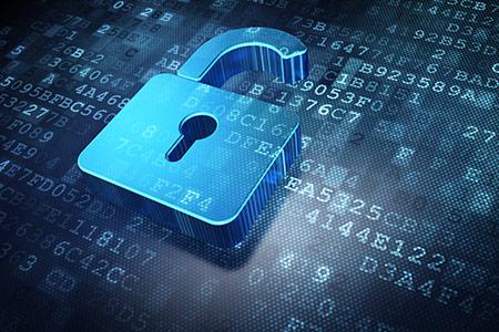 Simboličen prikaz integritete podatkov z ključavnico