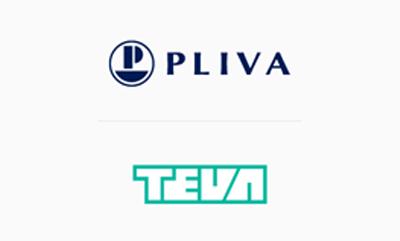 Logotipa Pliva in Teva