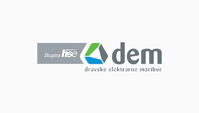 Logotip Dravske elektrarne Maribor